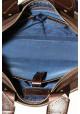 Компактная сумка мужская кожаная с двумя ручками Vatto коричневая