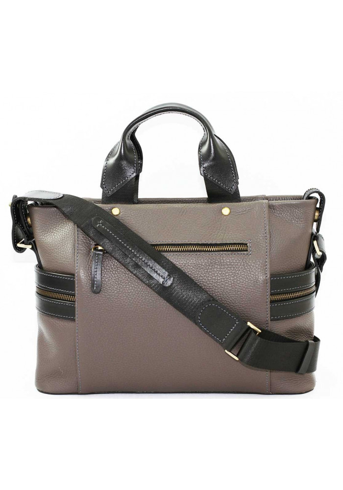 dd2e18ee6946 ... Компактная сумка мужская кожаная с двумя ручками Vatto серая, фото №3 -  интернет магазин ...