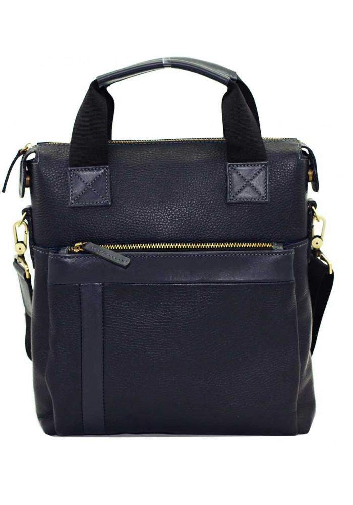 Натуральная кожаная сумка мужская Vatto синяя