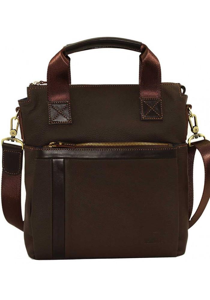 Натуральная кожаная сумка мужская Vatto коричневая