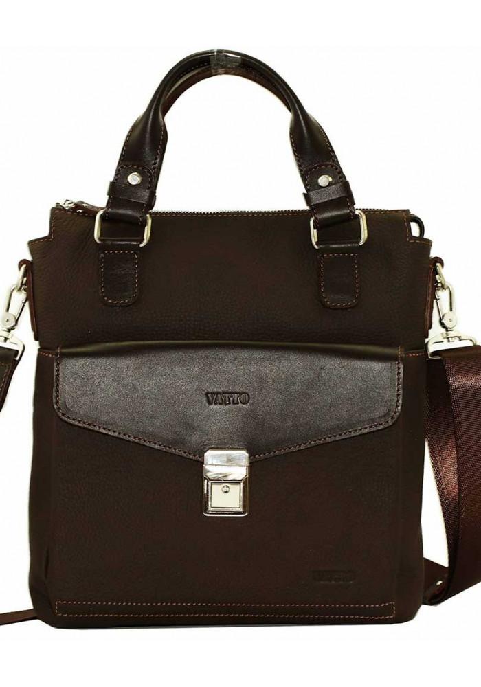 Мужская сумка из кожи Vatto коричневая матовая