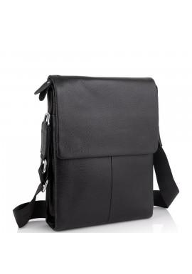 Фото Кожаная черная сумка мужская через плечо Tiding Bag A25F-9906A