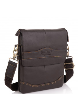 Фото Мужская сумка через плечо кожаная Ruff Ryder RR-3863B