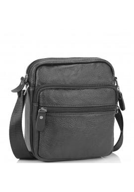 Фото Небольшая кожаная сумка через плечо черная Tiding Bag NM20-2610A