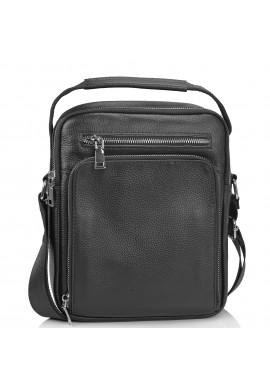 Фото Мужская сумка-мессенджер через плечо черная Tiding Bag NM23-2305A