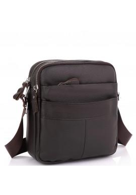 Фото Кожаный мессенджер мужской коричневый Tiding Bag A25F-8017B