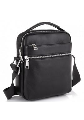 Фото Мужская черная кожаная сумка через плечо Tiding Bag NM23-6013A