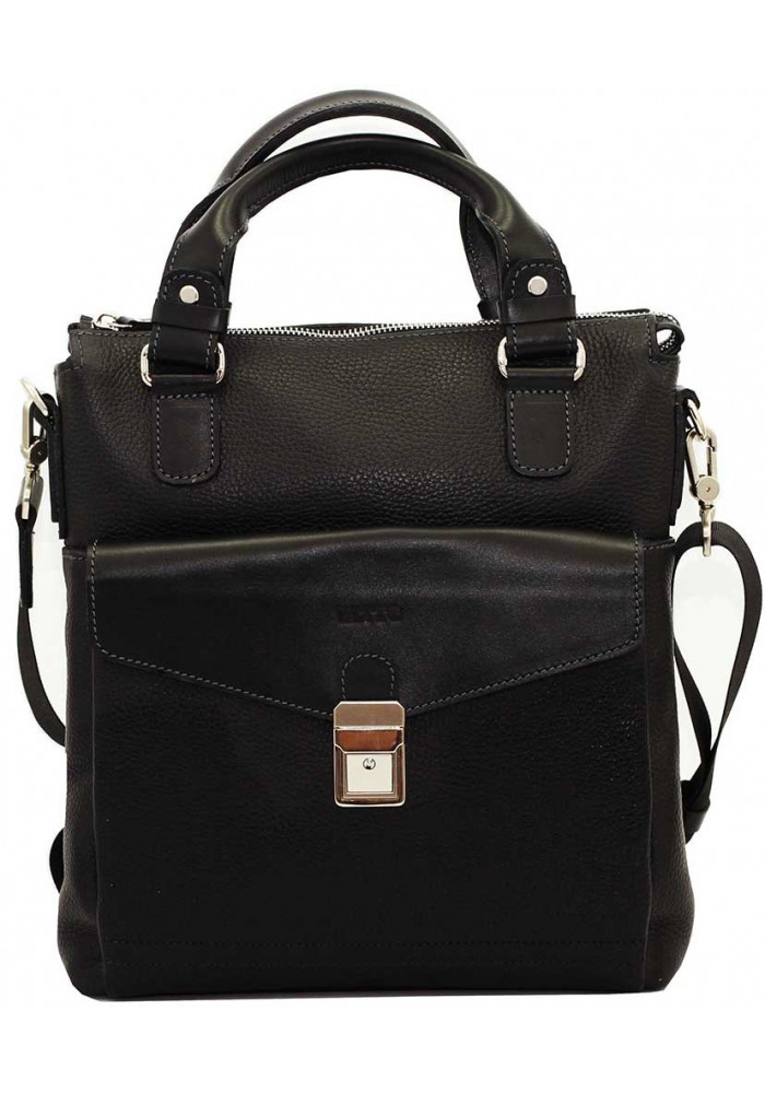 Мужская сумка из кожи Vatto коричневая черная