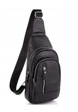 Фото Мужской кожаный черный слинг на плечо Tiding Bag A25F-5605A