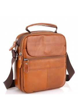 Фото Коричневая мужская сумка через плечо Tiding Bag NM20-2611C