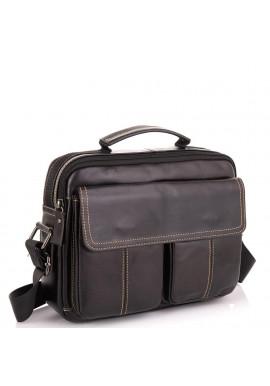 Фото Горизонтальный кожаный мессенджер Tiding Bag N2-403DB