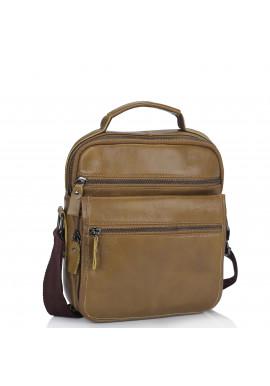 Фото Мужская кожаная сумка через плечо коричневая Tiding Bag M35-8852LB