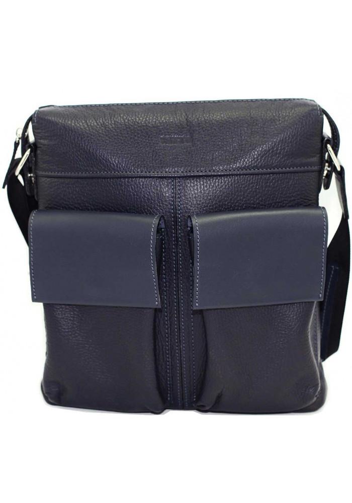 Мужская сумка из натуральной кожи Vatto синяя