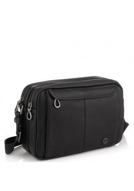 Фото Горизонтальный кожаный мессенджер черный Tiding Bag SM8-8890-1A