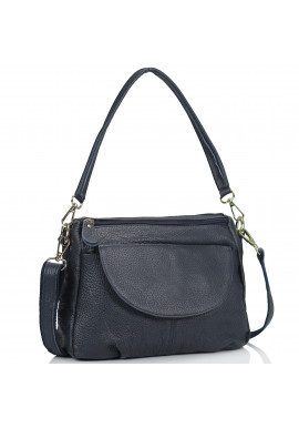 Фото Женская кожаная сумка синяя Riche NM20-W1195BL