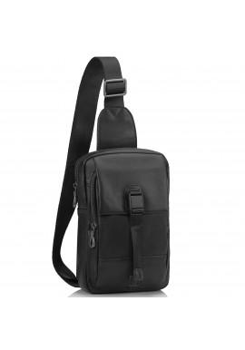 Фото Сумка-слинг черная мужская Tiding Bag 312A