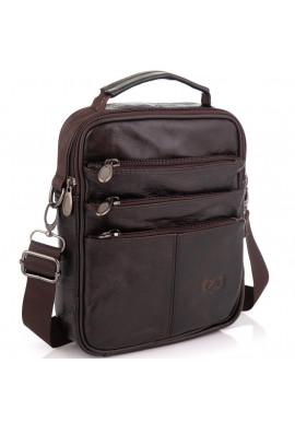 Фото Коричневая мужская сумка мессенджер HD Leather NM24-218C