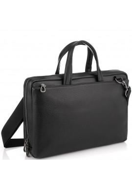 Фото Сумка для ноутбука черная кожаная Tiding Bag NM29-88212-3A