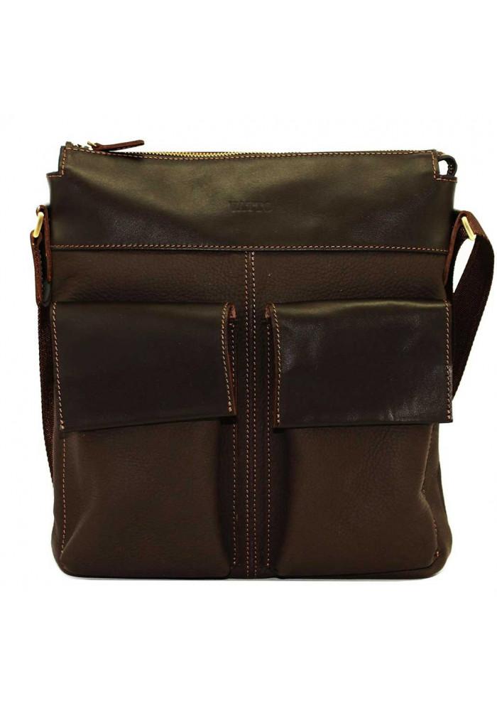 Мужская сумка из натуральной кожи Vatto коричневая