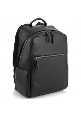 Фото Черный стильный кожаный мужской рюкзак Tiding Bag NM29-2679BA