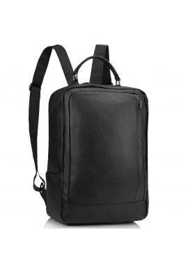 Фото Мужской кожаный черный рюкзак для ноутбука Tiding Bag A25F-8834A