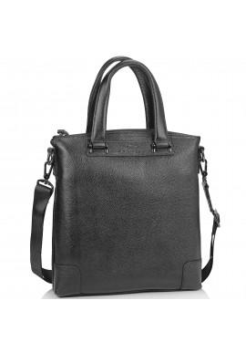 Фото Кожаная черная сумка мужская с ручками Tiding Bag M38-9160-1A
