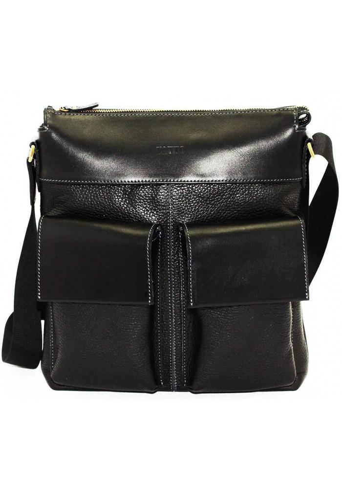 Мужская сумка из натуральной кожи Vatto черная