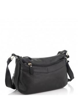 Фото Женская кожаная сумка черная Riche NM20-W0326A