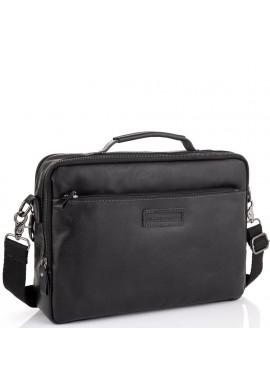 Фото Мужская кожаная черная сумка для ноутбука Allan Marco RR-4104A