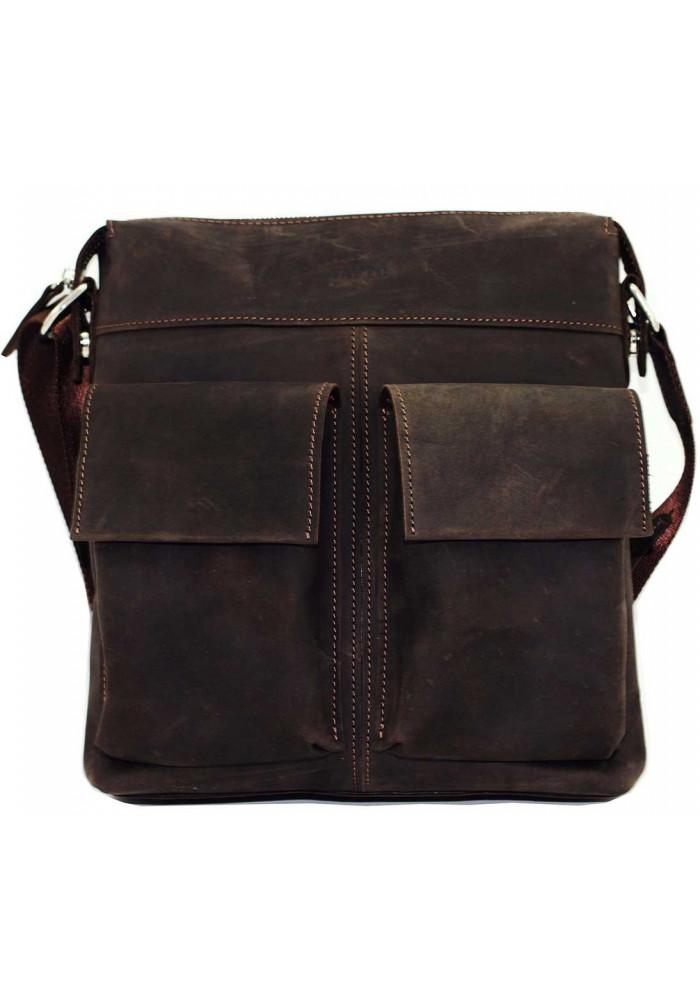 Мужская сумка из натуральной кожи Vatto коричневая матовая
