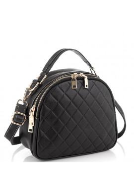 Фото Кожаная черная женская сумка Riche NM20-W323A