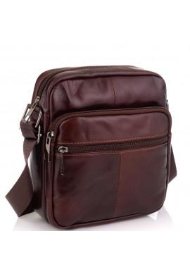 Фото Кожаная мужская сумка через плечо коричневая Tiding Bag NM20-2610C