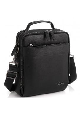 Фото Кожаная сумка через плечо в черном цвете Tavinchi TV-S010A