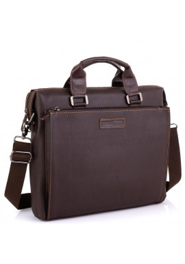 Фото Кожаная коричневая сумка для ноутбука Allan Marco RR-4102-1B