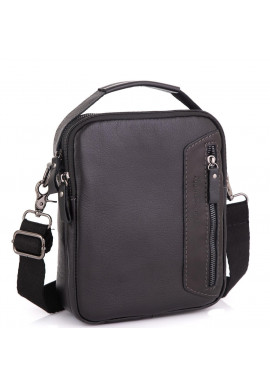 Фото Кожаная сумка через плечо черная Allan Marco RR-4099A