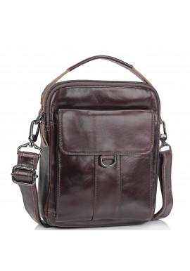 Фото Коричневая сумка мессенджер через плечо Tiding Bag N2-8013DB