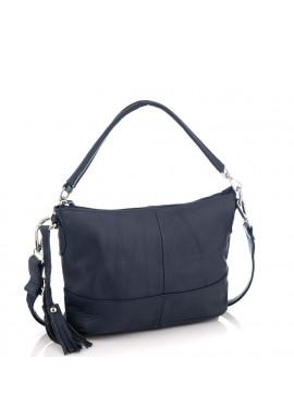 Фото Кожаная женская сумка синяя Riche NM20-W891BL