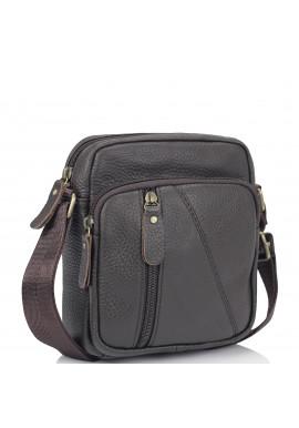 Фото Мужская кожаная сумка коричневая через плечо Tiding Bag N2-1008DB