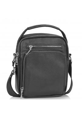 Фото Мужская сумка через плечо черная с ручкой Tiding Bag NM23-2304A