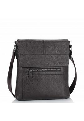 Фото Кожаная мужская сумка через плечо коричневая Tiding Bag M38-9117-2B