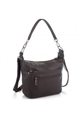 Фото Кожаная женская сумка коричневая Riche NM20-W9009DB