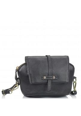 Фото Женская кожаная сумочка кроссбоди черная Riche NM20-W645A