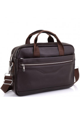 Фото Кожаная сумка для ноутбука коричневая Tiding Bag A25-1128C