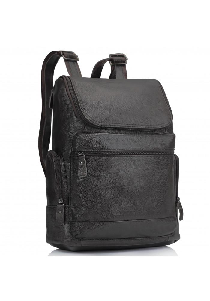 Фото Мужской кожаный рюкзак коричневый Tiding Bag M35-1017B