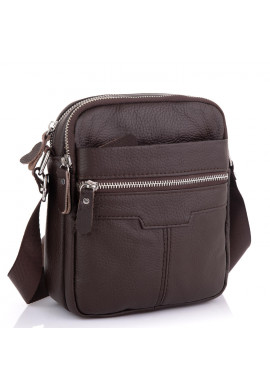 Фото Сумка кожаная мужская коричневая Tiding Bag A25F-6625B