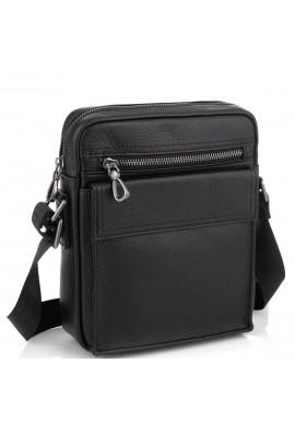 Фото Черная кожаная сумка мужская Tiding Bag NM29-88079A