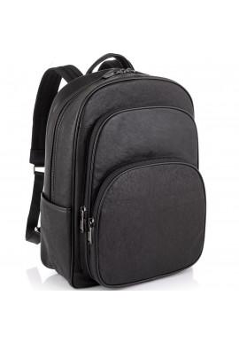 Фото Кожаный черный мужской рюкзак Tiding Bag NM11-166A