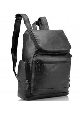 Фото Мужской кожаный рюкзак черный Tiding Bag M35-1017A