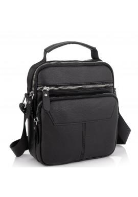 Фото Сумка через плечо черная мужская кожаная Tiding Bag A25F-1436A