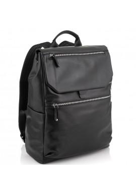 Фото Мужской кожаный рюкзак черный Tiding Bag NM29-88066A